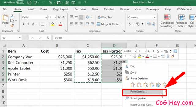11 Tính năng hữu ích của lệnh PASTE trong Excel + Hình 12