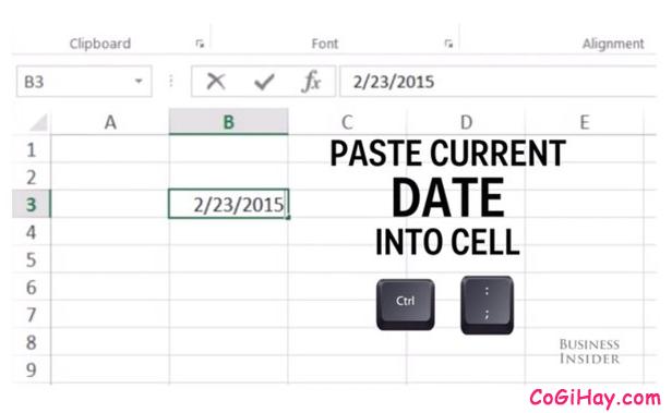 Tổng hợp những tổ hợp phím tắt hay dùng trong Microsoft Excel + Hình 11