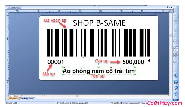Hướng dẫn kết nối phần mềm Bartender với Bảng tính Excel + Hình 5