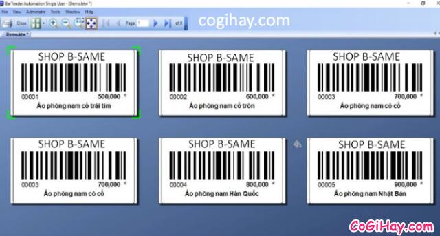 Hướng dẫn kết nối phần mềm Bartender với Bảng tính Excel + Hình 13