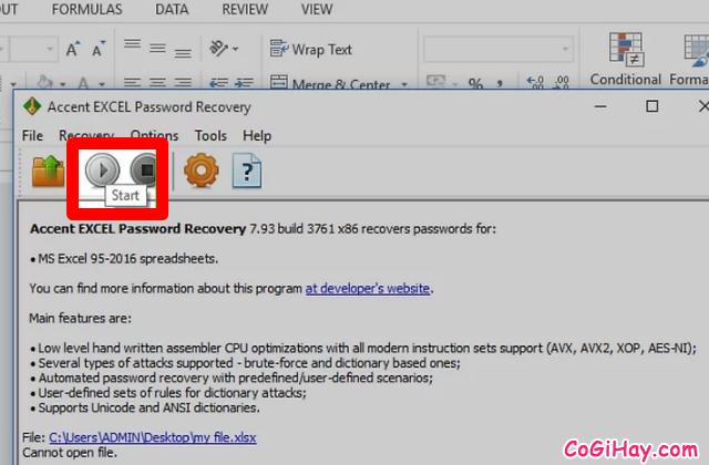 Hướng dẫn bẻ khóa mật khẩu bảo vệ file Microsoft Excel  + Hình 7