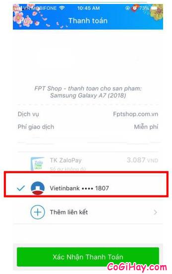 Cách sử dụng ZaloPay để thanh toán và mua hàng Online + Hình 25