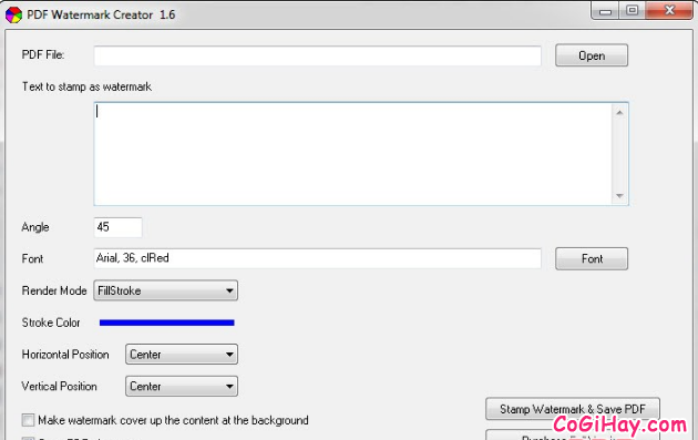 Hướng dẫn đóng dấu bản quyền Watermark cho file PDF + Hình 3