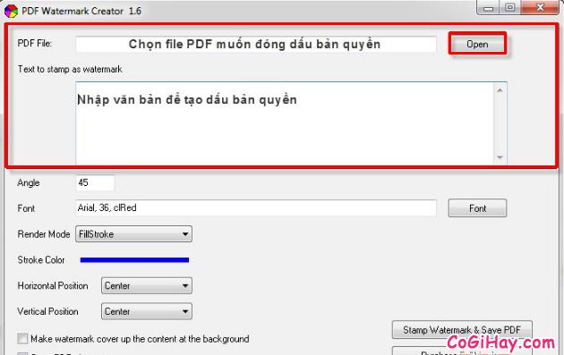 Hướng dẫn đóng dấu bản quyền Watermark cho file PDF + Hình 4