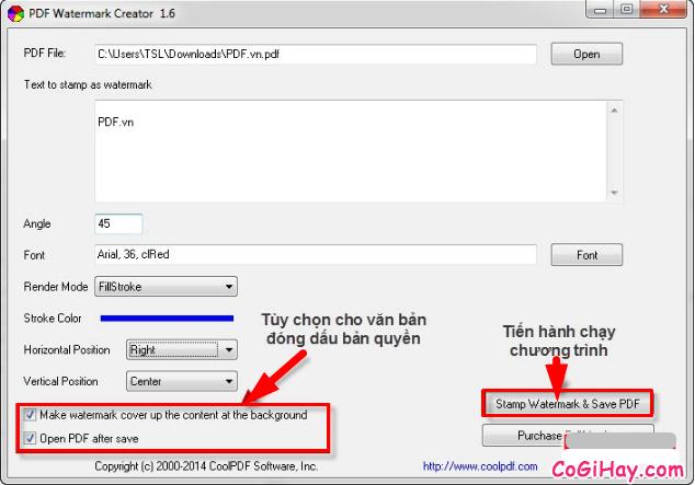 Hướng dẫn đóng dấu bản quyền Watermark cho file PDF + Hình 6