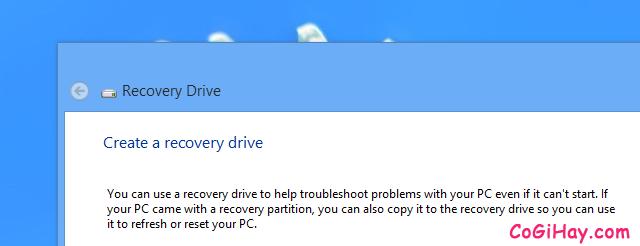 Hướng dẫn tạo ổ cứng USB khôi phục Windows 10 + Hình 3