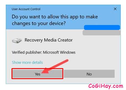 Hướng dẫn tạo ổ cứng USB khôi phục Windows 10 + Hình 6