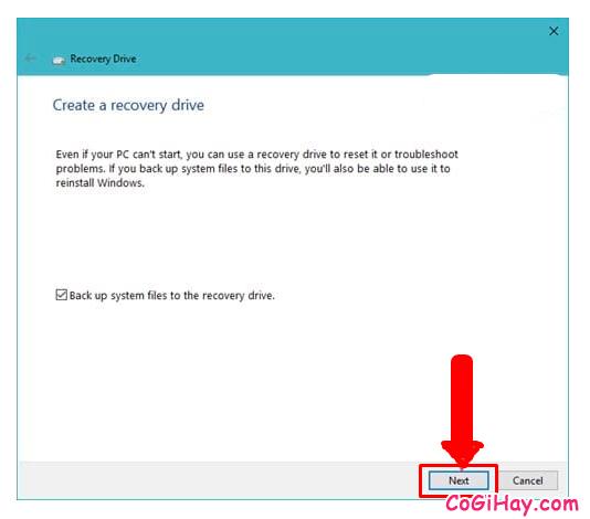 Hướng dẫn tạo ổ cứng USB khôi phục Windows 10 + Hình 7