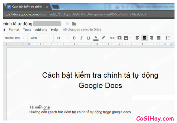 Hướng dẫn bật kiểm tra chính tả tự động trên Google Docs + Hinh 6