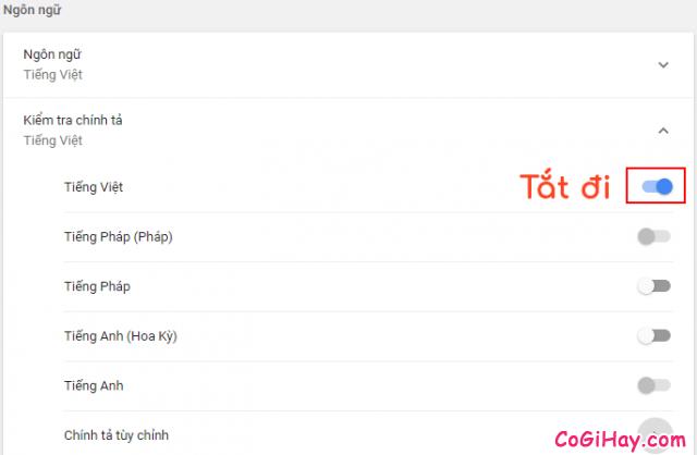 Cách tắt kiểm tra chính tả trên trình duyệt Google Chrome + Hình 5