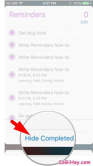 Hướng dẫn thêm lời nhắc vào danh sách Reminder + Hình 13