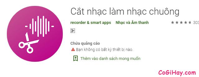 TOP 3 ứng dụng tùy biến nhạc chuông cho điện thoại Android + Hình 5