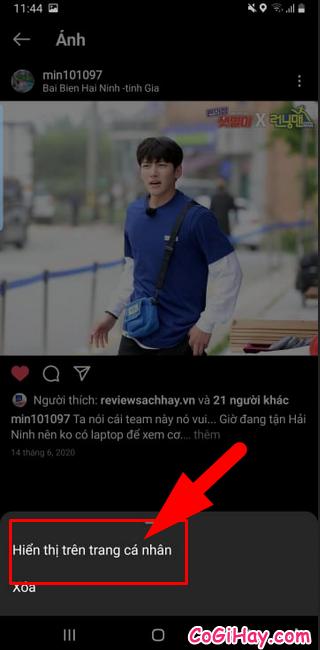 Thủ thuật Ẩn - Hiển thị lại bài viết trên Instagram + Hình 13