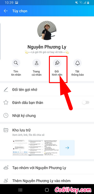 Hướng dẫn đổi hình nền cho đoạn Chat trên Zalo + Hình 3