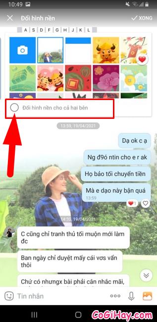 Hướng dẫn đổi hình nền cho đoạn Chat trên Zalo + Hình 6