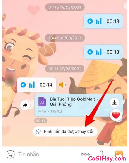 Hướng dẫn đổi hình nền cho đoạn Chat trên Zalo + Hình 8