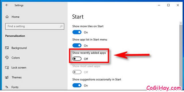 Thủ thuật Ẩn những ứng dụng, phần mềm mới cài trên Windows 10 + Hình 6