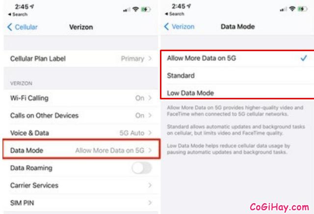 Mẹo tiết kiệm dữ liệu 5G trên điện thoại iPhone 12 + Hình 8